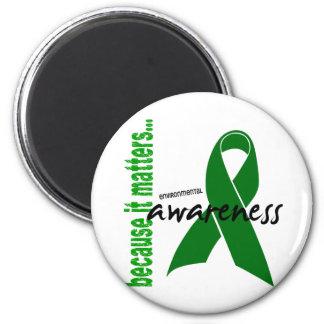 Environmental Awareness 6 Cm Round Magnet