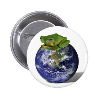 Environmental Awareness Save The Planet Button
