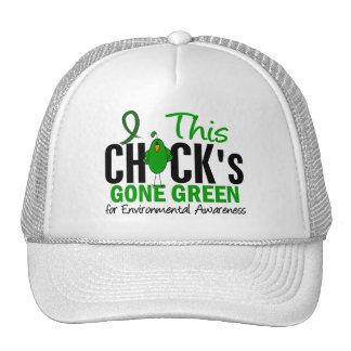 ENVIRONMENTAL Chick Gone Green Trucker Hat