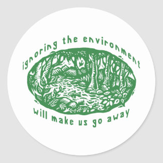 Environmental Classic Round Sticker