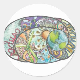 Environmental Design Round Sticker