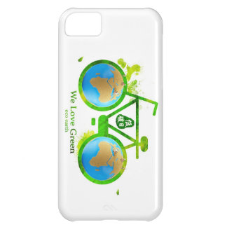 Environmental eco-friendly green bike iphone case case for iPhone 5C