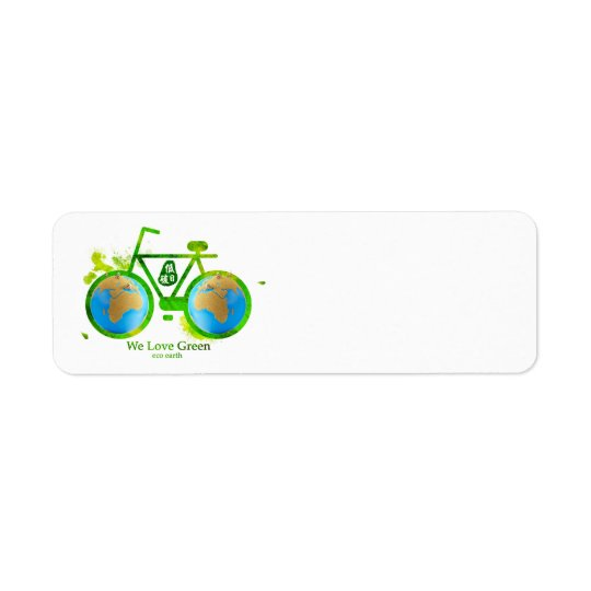 Environmental eco-friendly green bike labels