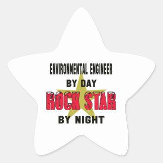 Environmental engineer by Day rockstar by night Star Sticker