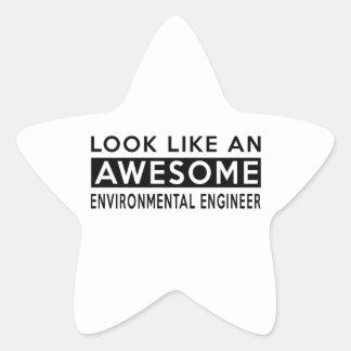 ENVIRONMENTAL ENGINEER DESIGNS STAR STICKER