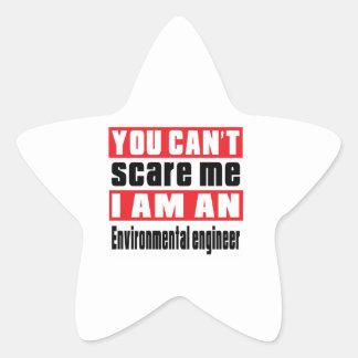 Environmental engineer scare designs star sticker