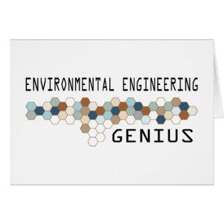 Environmental Engineering Genius Greeting Cards