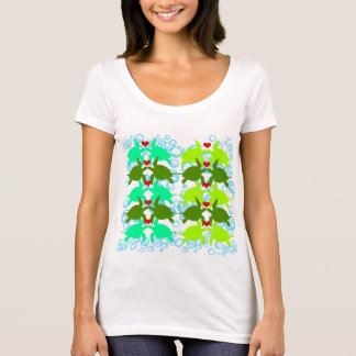 Environmental Kissing Sea Turtles by Mini Brothers T-Shirt