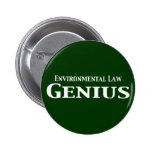 Environmental Law Genius Gifts Pins