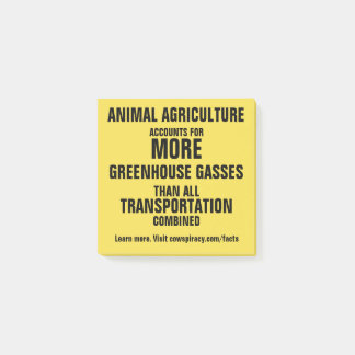 Environmental Post-Its: Greenhouse Gasses Post-it Notes
