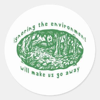 Environmental Round Sticker