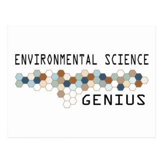 Environmental Science Genius Postcard