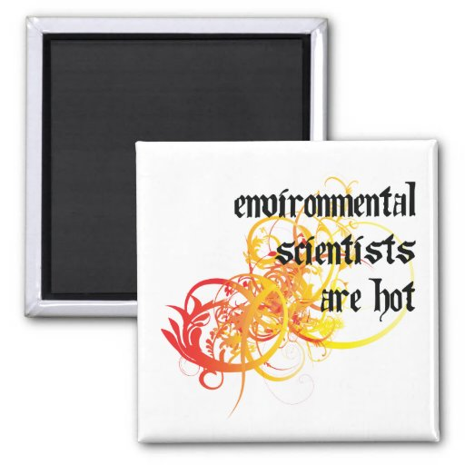 Environmental Scientists Are Hot Refrigerator Magnet