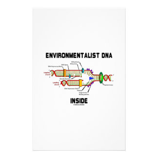 Environmentalist DNA Inside (DNA Replication) Stationery Paper