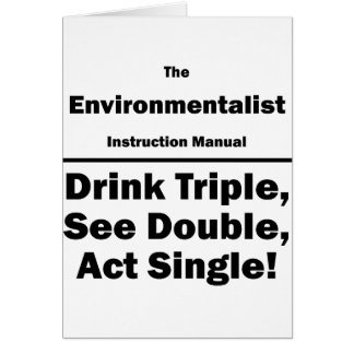 environmentalist note card
