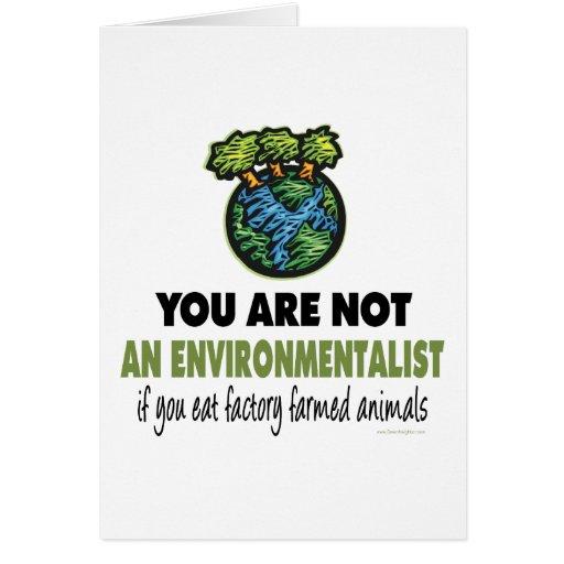 Environmentalist = Vegan, Vegetarian Greeting Cards