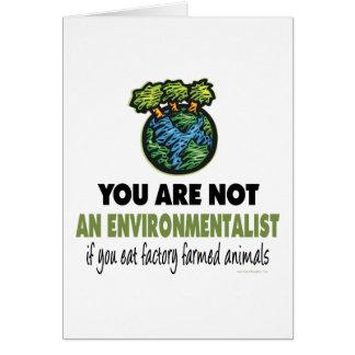 Environmentalist = Vegan, Vegetarian Greeting Card