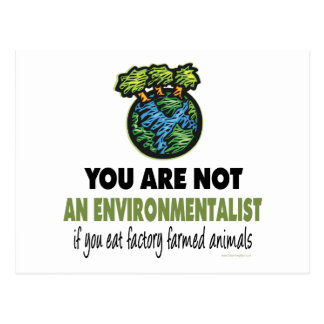Environmentalist = Vegan, Vegetarian Postcard