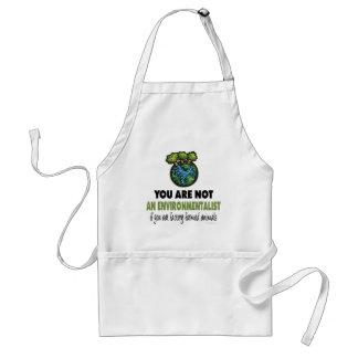 Environmentalist = Vegan, Vegetarian Standard Apron