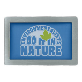 Environmentalists custom belt buckle