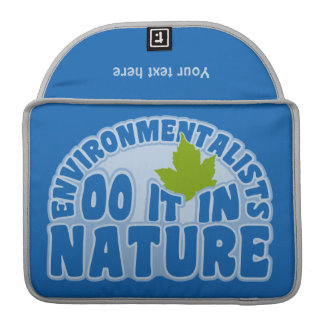 Environmentalists custom MacBook sleeve