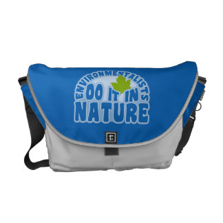 Environmentalists custom messenger bag