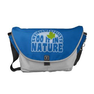 Environmentalists custom messenger bag