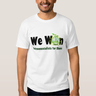 Environmentalists for Obama Victory 2012 Green Tee Shirts