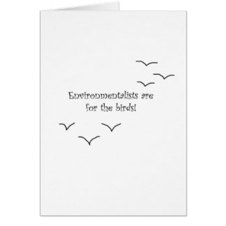 environmentalists greeting card