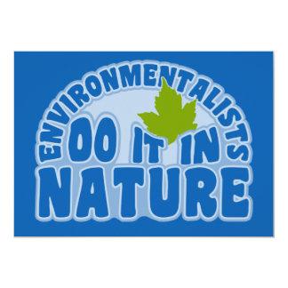 Environmentalists invitation, customize 13 cm x 18 cm invitation card