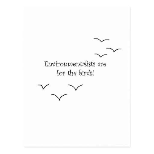 environmentalists postcards
