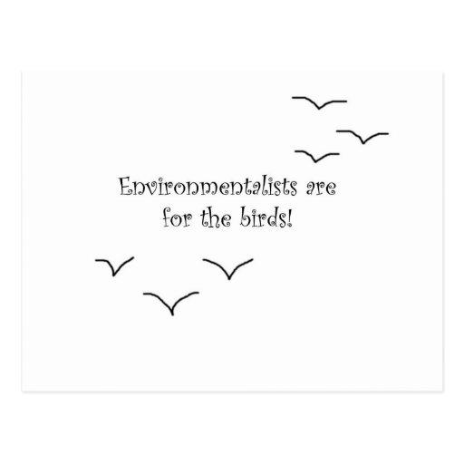 environmentalists post card