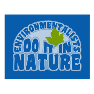 Environmentalists postcard, customize postcard