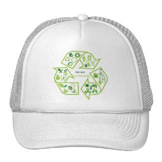 Environmentally eco-friendly green recycle cap
