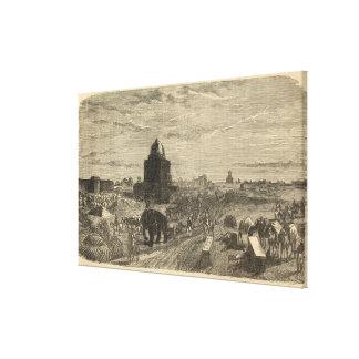 Environs of Delhi, 1857 Canvas Print