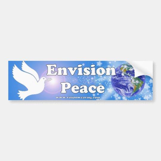 Envision Peace Bumper Sticker