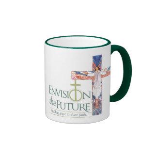 Envision w/ Cross, Grace Cafe 2 Ringer Mug