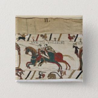 Envoys from Duke William are sent to Guy 15 Cm Square Badge