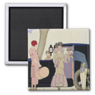 Envy, 1914 (pochoir print) square magnet