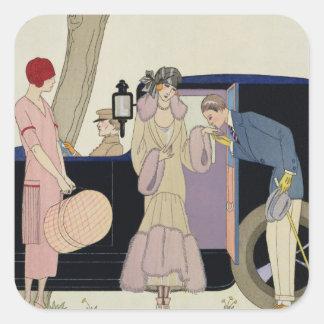 Envy, 1914 (pochoir print) square sticker