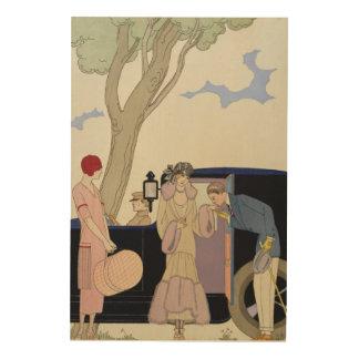 Envy, 1914 (pochoir print) wood prints