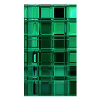 Envy Green Pattern Mosaic Tile Art Pack Of Standard Business Cards