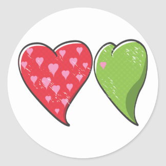 Envy Heart Classic Round Sticker