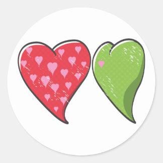 Envy Heart Round Sticker