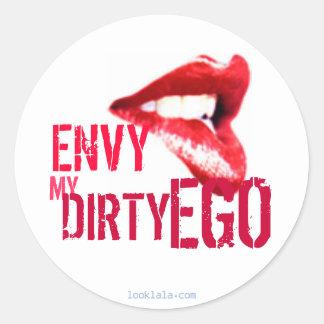 Envy my Ego Round Sticker