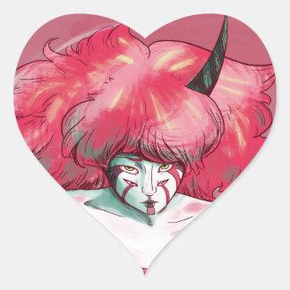 Envy Turning Red Heart Sticker