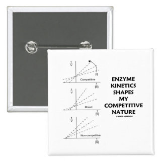 Enzyme Kinetics Shapes My Competitive Nature 15 Cm Square Badge