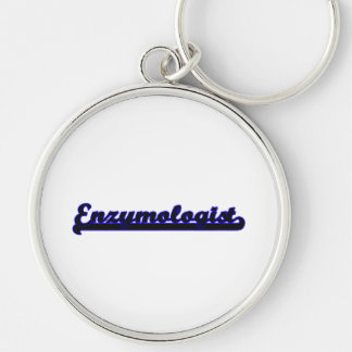 Enzymologist Classic Job Design Silver-Colored Round Keychain