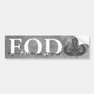 EOD bumper sticker