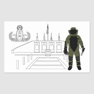 EOD Memorial Bomb Suit Rectangular Sticker